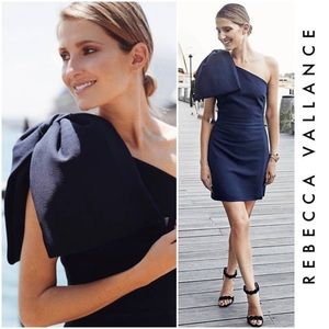 Hamptons Bow Mini Dress In Navy